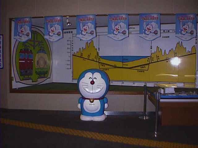函館駅 通路のドラえもん