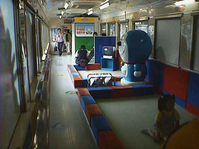 津軽海峡線 ドラえもん列車 車内
